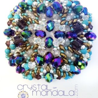Gioielli Crystal-Mandala, #CrystalMandala_gioielli, Crystal Mandala Gioielli, fine handmade jewelry, beaded necklace, Ciondolo cristalli, Beading Pendant, bead embroidery - by #machegioia® - #crystal-mandala.com gioielli fatti a mano, gioielli con cristalli, Enchanted collection, gioielli in tessitura, gioielli su commissione