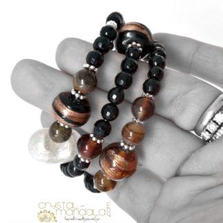 Bracciale CrystalMandala #crystalmandala_bangle #handmadebangle #naturalstone_bangle #naturalstone_bracelet