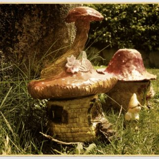 Air dry clay fairy house boxes.