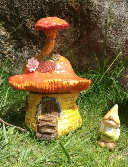 Air dry clay fairy house boxes.
