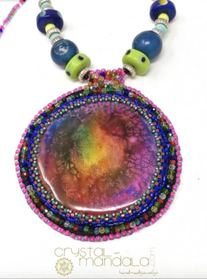 Crystal-Mandala Jewelry, Gioielli Crystal-Mandala, #CrystalMandala_gioielli, #machegioia, machegioia, Crystal Mandala Gioielli, fine handmade jewelry, beaded necklace, Ciondolo cristalli, Beading Pendant, bead embroidery - by #machegioia® - #crystal-mandala.com gioielli fatti a mano, gioielli con cristalli, Enchanted collection, gioielli in tessitura, gioielli su commissione