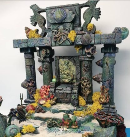 Thetis'Throne. Θέτις θέα τής θάλασσας Diorama Oceano - #machegioia, diorama oceano, diorama trono, diorama thetis, ocean diorama